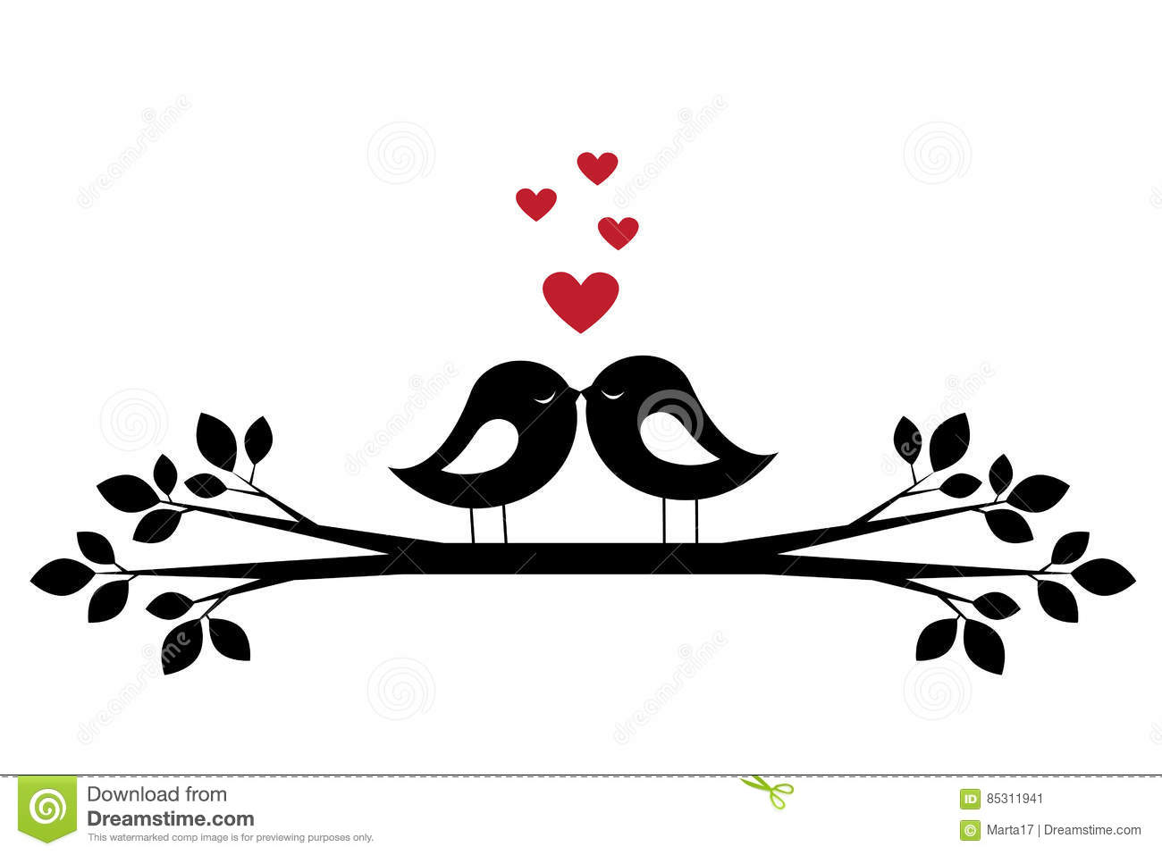 kus van silhouetten de leuke vogels en rode harten 85311941 - Nina & Cooper zorgen voor extra Belgische Drentenpups